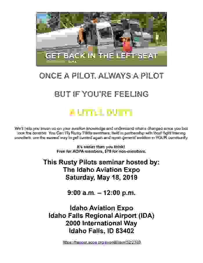 AOPA Rusty Pilots Seminar at the Idaho Aviation Expo!